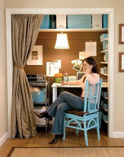 Closet Turned Office Spaces Design Indulgences