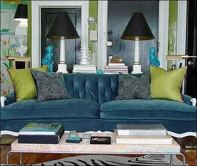 peacock inspired living room. luxeandlillies com Peacock Inspired  Design Indulgences