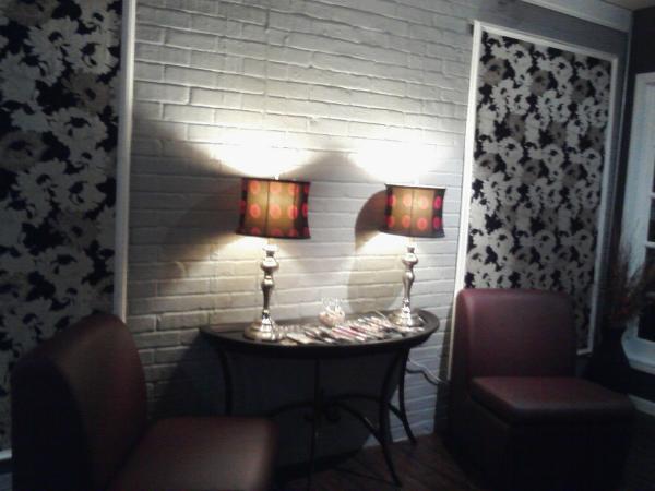 the lobby interior of my hair salon design indulgences. Black Bedroom Furniture Sets. Home Design Ideas