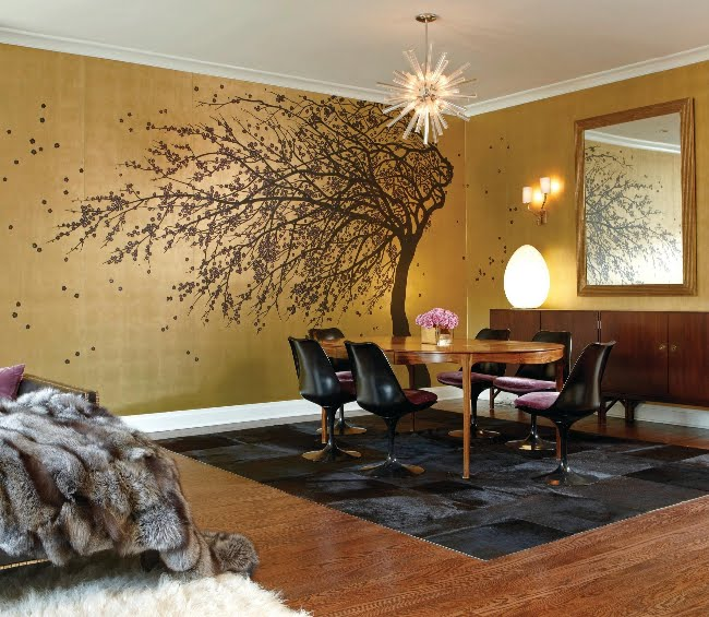 Interior Decorating Color Ideas: Metallic Gold & Bronze Fabulousness…