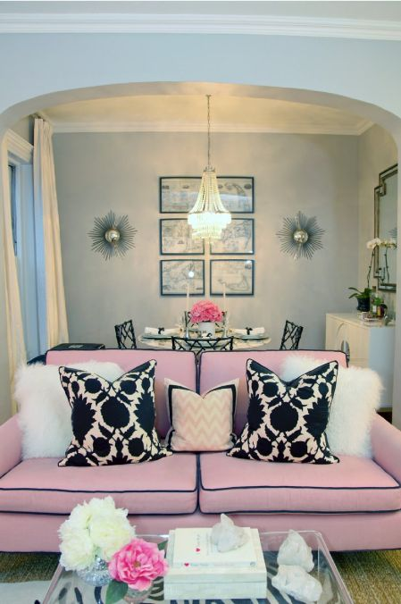 Glam Interior Design get the look: pink, black & white glam… – design indulgences