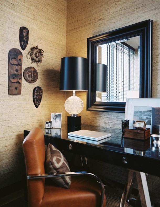desain interior ruang kerja minimalis modern di rumah