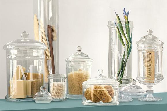 Bathroom Jars glass bathroom jars canisters | carpetcleaningvirginia