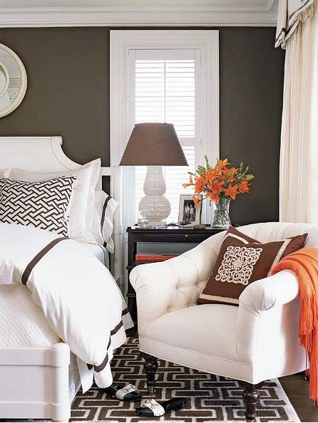 Color Schemes Taupe Orange Ivory Design Indulgences