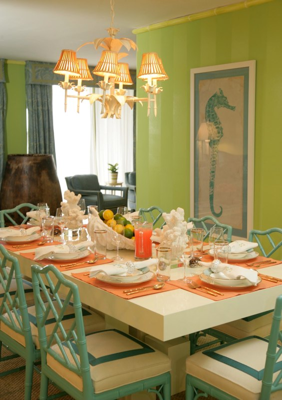 Color Schemes: Coral & Turquoise...Peach & Tiffany Blue...