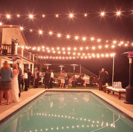 Looking for lighting company to string lights for backyard wedding The Knot