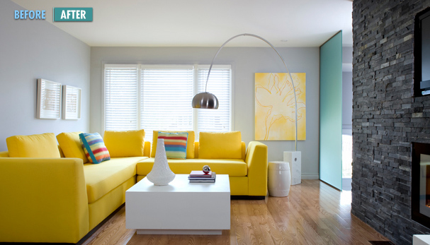 May 2011 design indulgences page 2 for Modern gray and yellow living room
