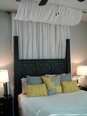 Tuesday's Tips: Use Curtains/Rods for Bed Canopies