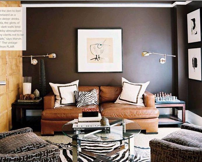 Masculine interior delights pt 2 design indulgences for Masculine living room designs