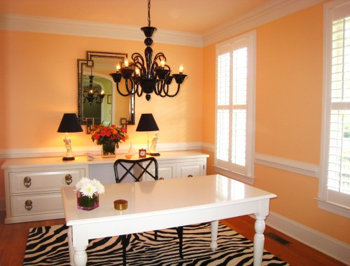 Tuesday s tips turning unused formal dining room into for Dining room into office