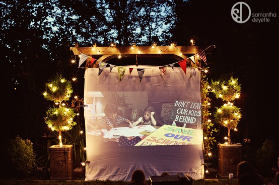 Backyard Parties At Night : STRING LIGHTS make everything outdoors fun?