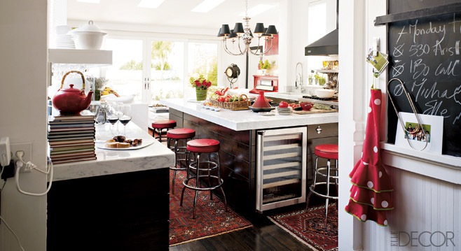 Williams Sonoma Black Red Amp White Kitchen Design