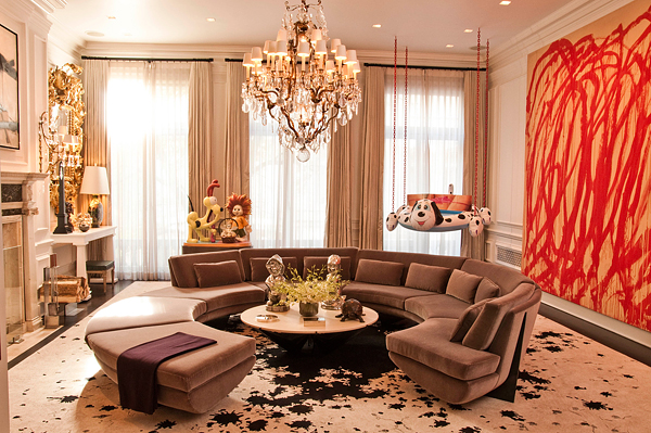 I believe this eclectic living room  Whimsy Fun  Decorating w Swing Beds    Design Indulgences. Living Room Swing. Home Design Ideas