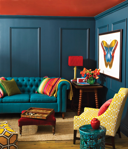 Taking A Cue From Peacocks W/Teal Walls…