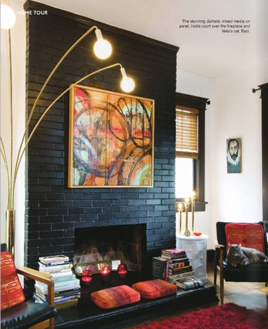 Painting exposed brick your thoughts design indulgences Fireplace feature wall colour