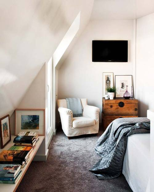 Pt 2 creative space planning design makes attics with for Very small bedroom interior design