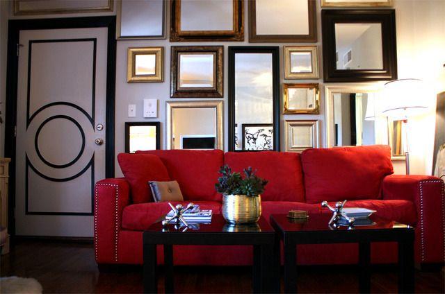 Ο καθρέφτης στην διακόσμηση, Gallery wall με καθρέφτες