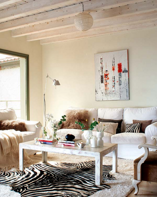 Winter decorating can still be bright and cozy...