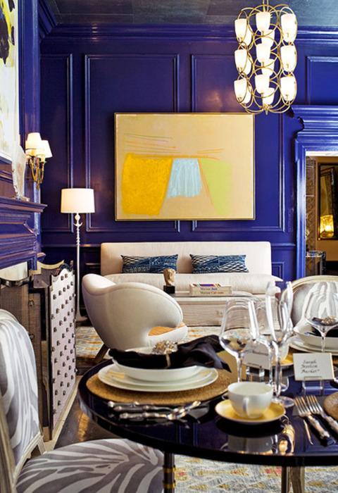 Color schemes cobalt blue yellow design indulgences for Cobalt blue living room