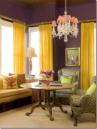 purple yellow color schemes wedding tablescapes interior design