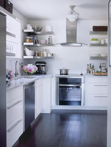 Open floating shelves VS cabinetry with doors - Design ...