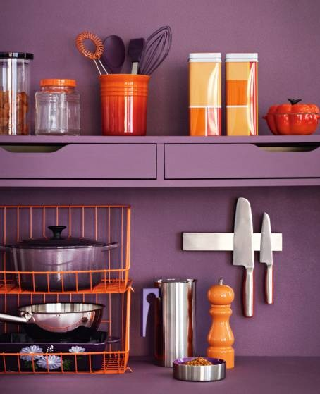 Plum Kitchen Paint: Color Schemes: Plum & Tangerine…