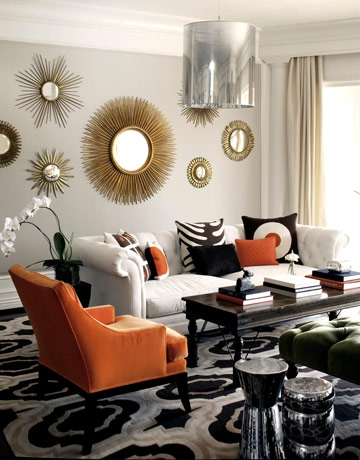 Versus starburst mirrors decorate with one or many for Starburst interior designs