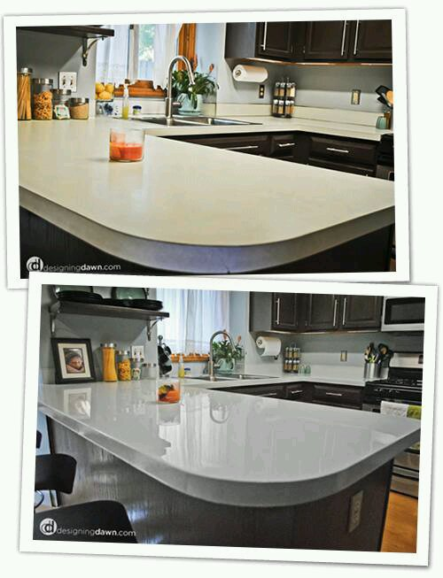 Recover Old Kitchen Worktops