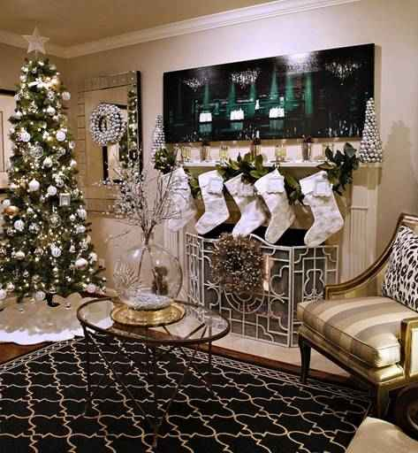 Luxurious Christmas Tree Decorating Ideas For School Decor Mixed Metals Gold Silver
