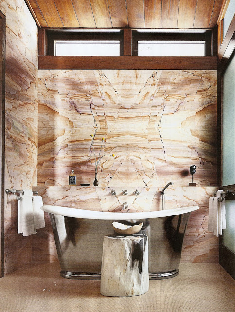 contemporary bathroom chrome tub interior design architectural digest marble