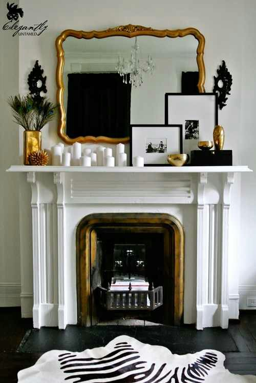 iWant a fireplace mantle so bad….even a faux one… – Design Indulgences