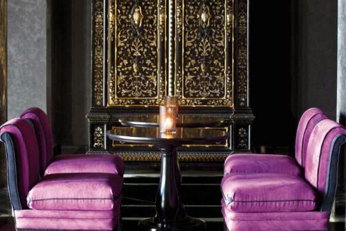 Deep Rich Plum Hued Velvet Seating Design Indulgences