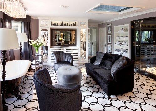 Kardashians home luxury design indulgences interior design black white