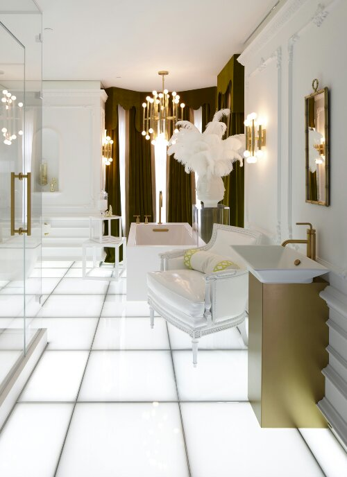 Hollywood glam design indulgences for Glam interior design