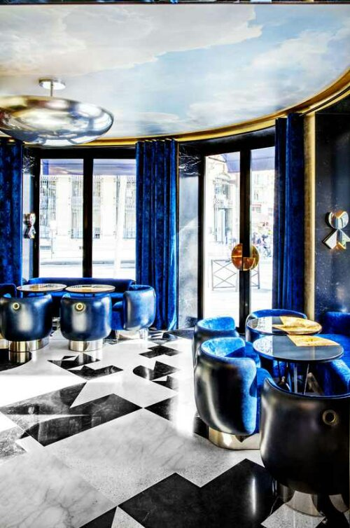 Cobalt blue design indulgences for Black gold interior design