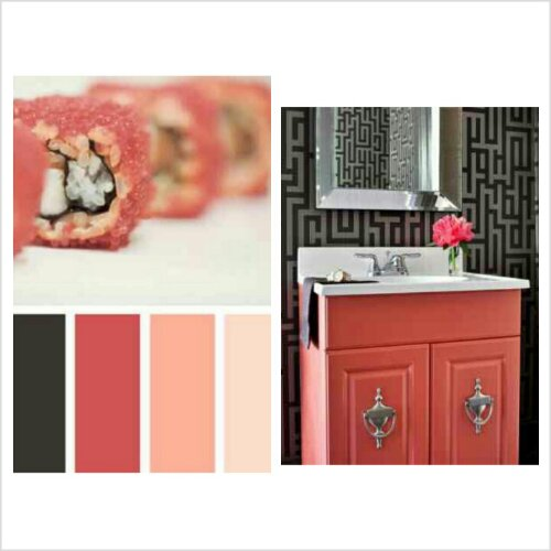 Color Schemes Coral Peach Black Gray Design Indulgences
