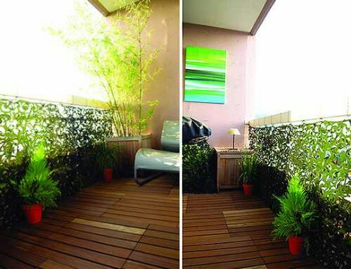 Tuesday s tips 5 ways to give your balcony privacy for Apartment balcony floor covering