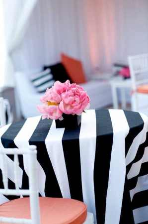 Black and white stripes for parties and weddings – Design Indulgences