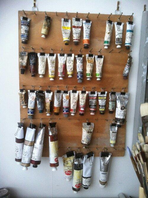 Artist Oil Paint Organizer