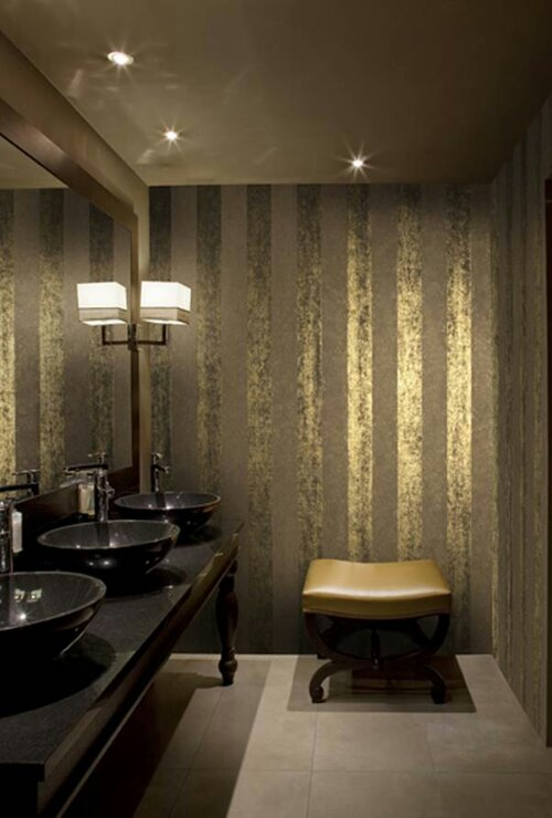 Love Retro Reflective Foil Wallpaper Design Indulgences