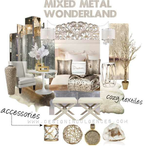 Mixed metal wonderland another high low room design design indulgences for Mixing metals in living room