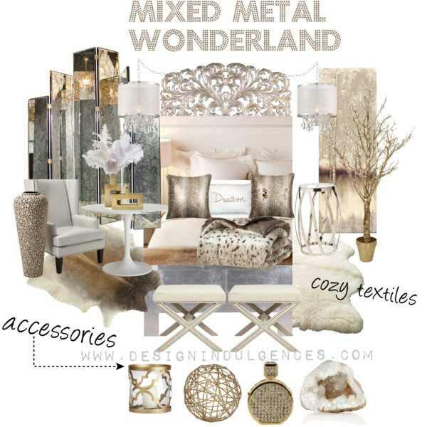 Mixed Metal Wonderlandanother High Low Room Design