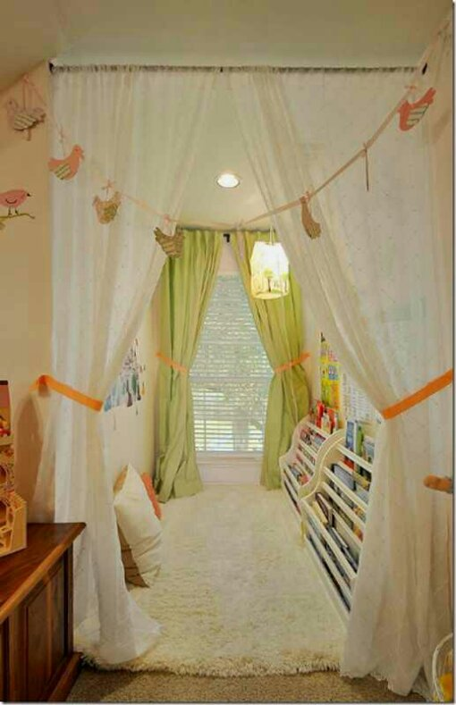 Tuesday\'s Tips: divide that space using curtains hung from ceiling ...