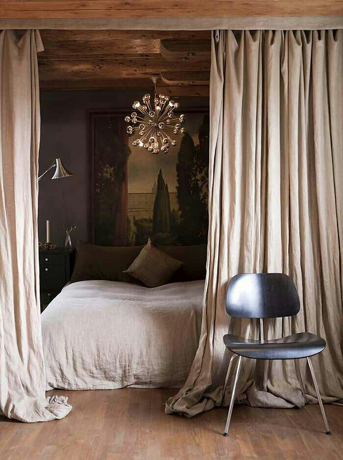 Tuesday S Tips Divide That Space Using Curtains Hung From Ceiling Rods Design Indulgences