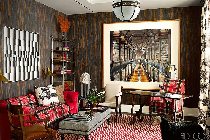 Red preppy plaid in design and table settings design indulgences - Work of home interior designer ...