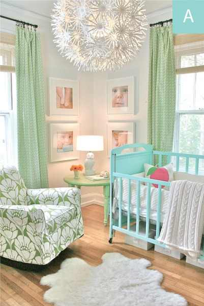 Tiny tot thursday beige sky blue and seafoam green hued for Seafoam green room decor