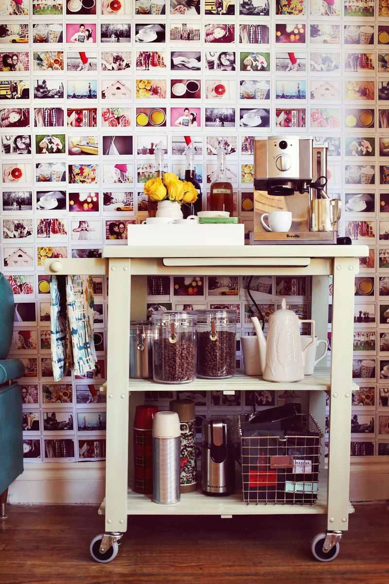 Tuesday s tips repurpose bar carts and make a coffee for Coffee cart for home