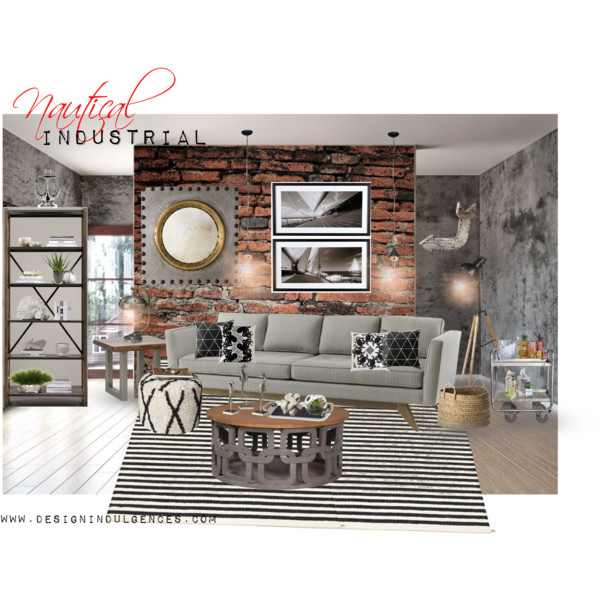 nautical industrial living room design - Industrial Living Room Decor