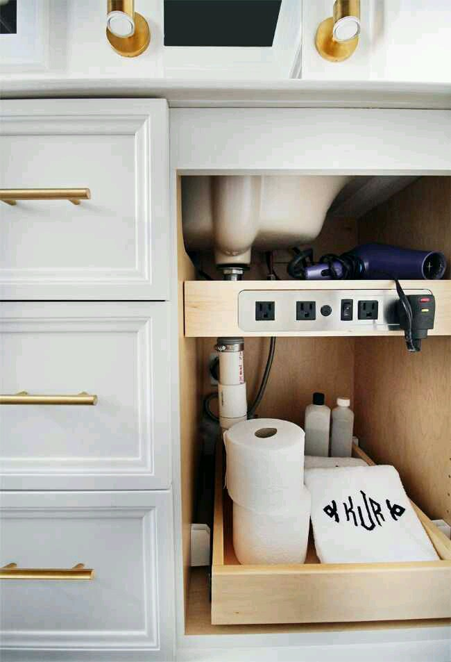 Tuesday S Tips Hide Cords By Installing A Drawer Shelf