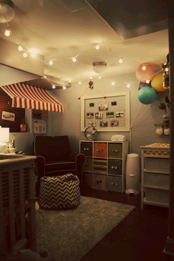String Lights In Rooms : Tiny Tot Thursdays: circus and carnival themes Design Indulgences